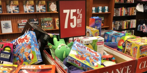 Up to 75% Off Books, Toys & Games at Barnes & Noble