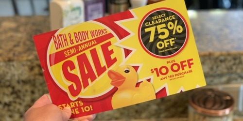 Bath & Body Works Semi-Annual Sale Is LIVE (+ $10 Off $40 Purchase Coupon)