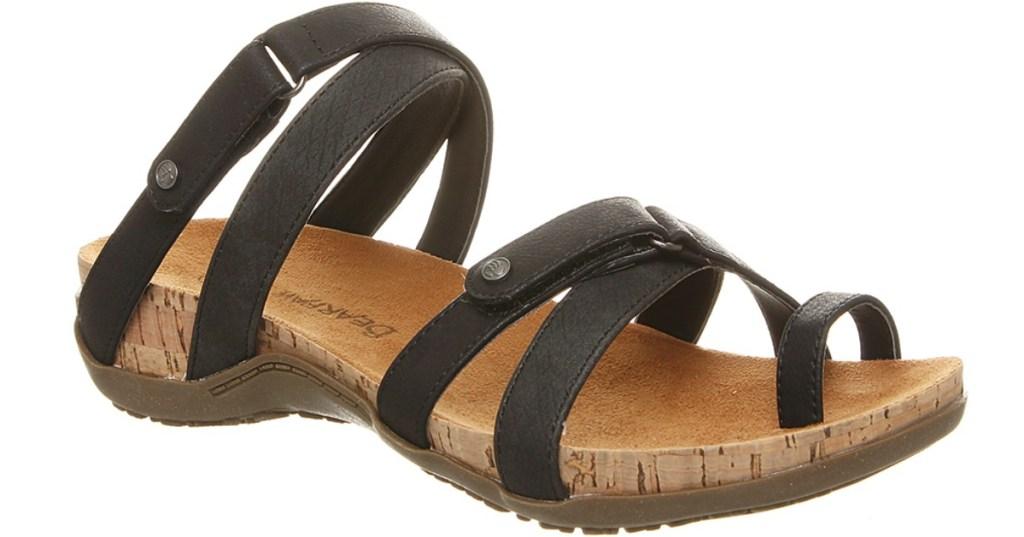 Bearpaw Nadine women's sandals with black criss cross straps
