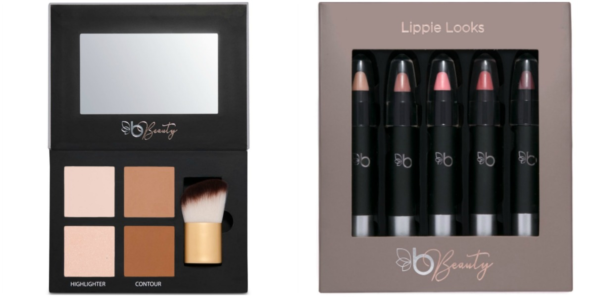Belk Beauty Highlighter and Contour Palette and Chubbie Lipstick Set
