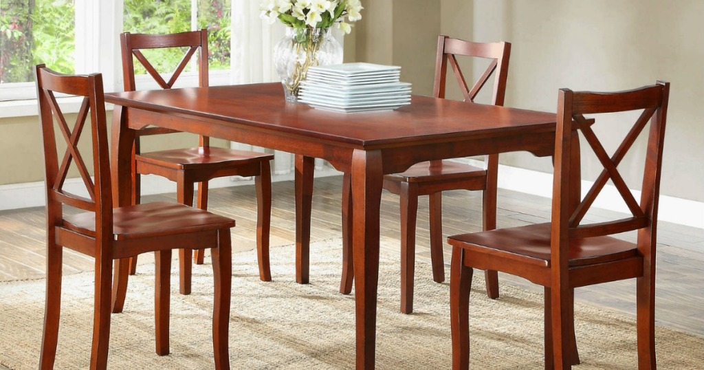 Better Homes and Garden chairs in a dining room