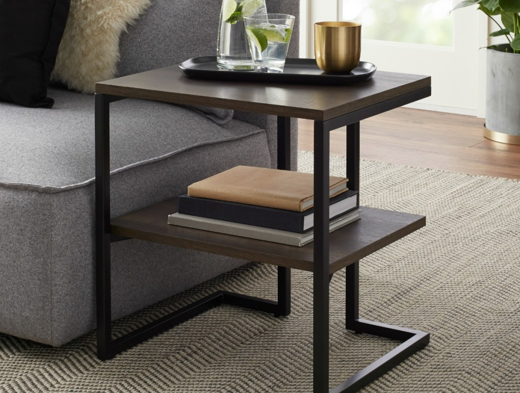 Better Homes & Gardens Rhodes Accent Table near couch