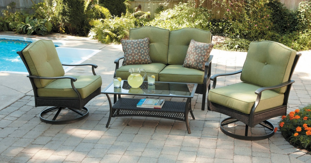 better homes and gardens conversation patio set