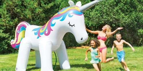 HUGE Unicorn & Dinosaur Inflatable Yard Sprinklers Only $36 at Michaels (Regularly $60)