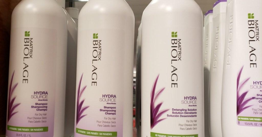 liter size bottles of biolage matrix