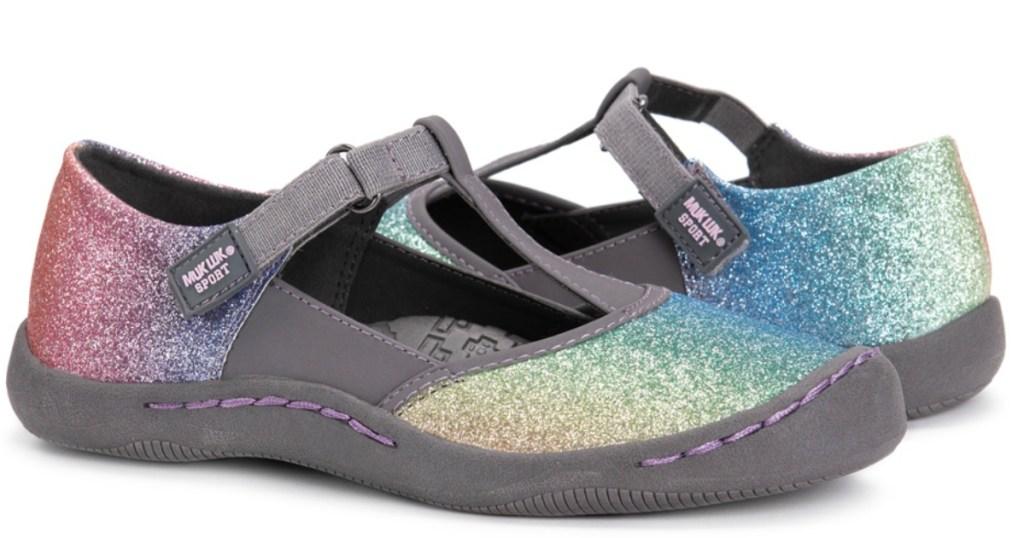 Blue & Pink Glitter Samantha Muk Luks Sandals