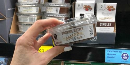 Have you Tried Brownie Batter or Vanilla Bean Dessert Hummus at ALDI? It's Vegan & Gluten-Free