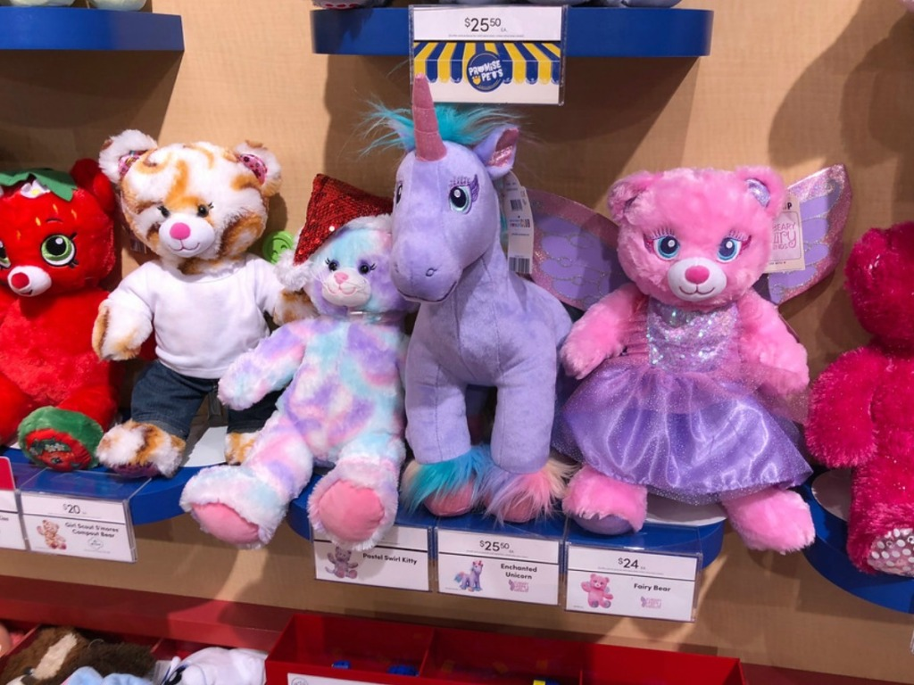 bears and ponies at Build-A-Bear store