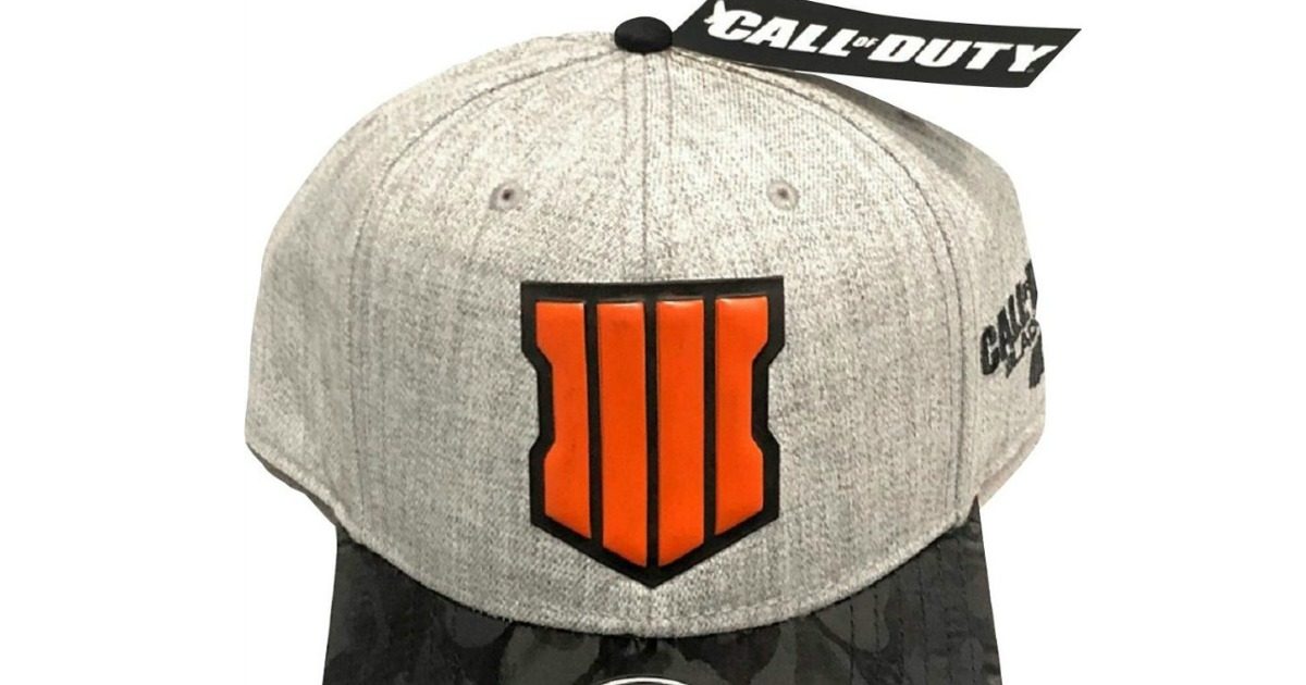 gray cap with call of duty shield