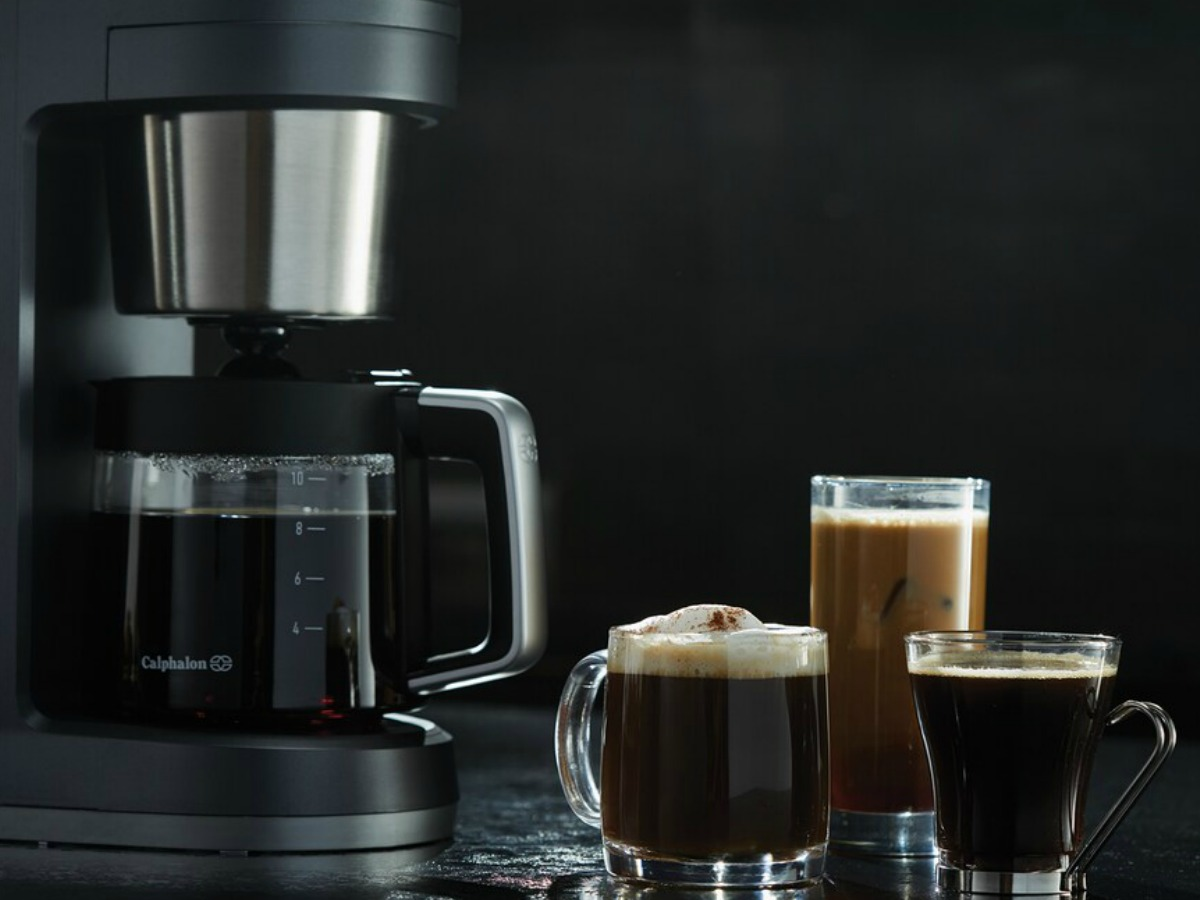 coffee maker with drinks