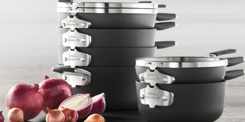 Calphalon Select Space Saving Cookware 9-Piece Set Only $229.99 Shipped + Get $30 Target Gift Card