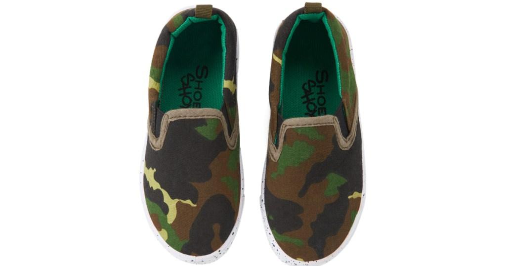 boys shoe shox camo sneakers