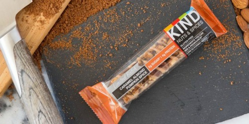 Amazon: KIND Caramel Almond Pumpkin Spice Bars 12-Pack Only $7.63 Shipped (Just 64¢ Each)