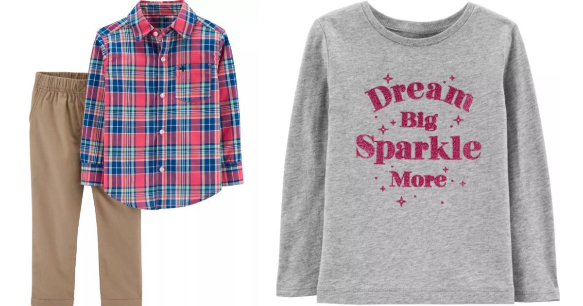 Carter's clothing set and shirt