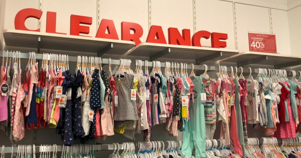 Carter's clearance apparel in-store