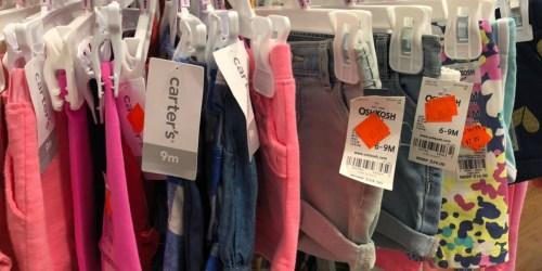 Carter's & OshKosh B'Gosh Kids Apparel as Low as $2.79 Shipped