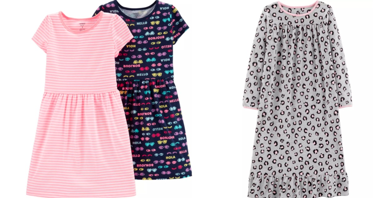 Carter's dresses and nightgown