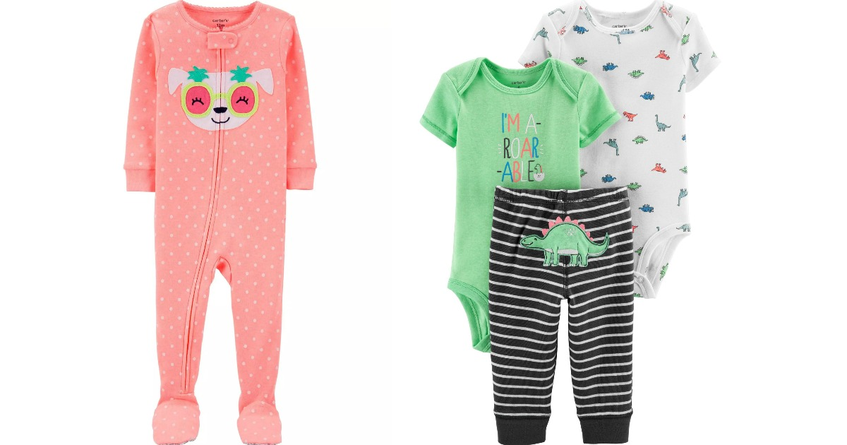 Carter's pajamas and baby set