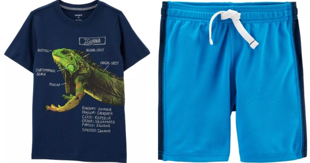 Carter's boys shirt and shorts