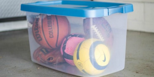 40% Off Storage Totes at Lowe's (Great for Packing & Organizing)
