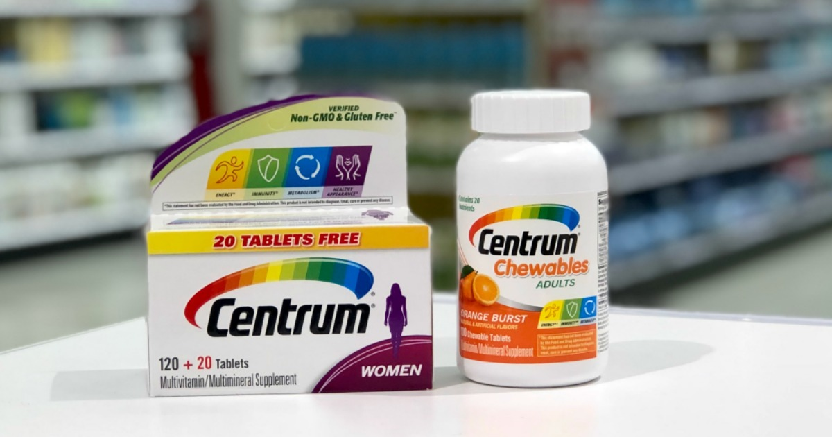 image relating to Centrum Coupon Printable named Substantial Expense $4/1 Centrum Nutrients Coupon \u003d 65% Cost savings Just after