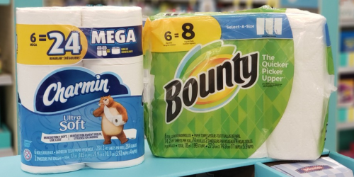 Save Over $14 on Bounty Paper Towels & Charmin Toilet Paper After Walgreens Rewards