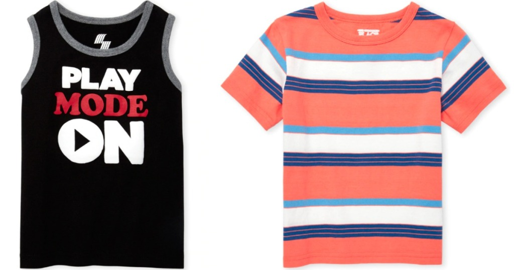 boy's tank and t-shirt