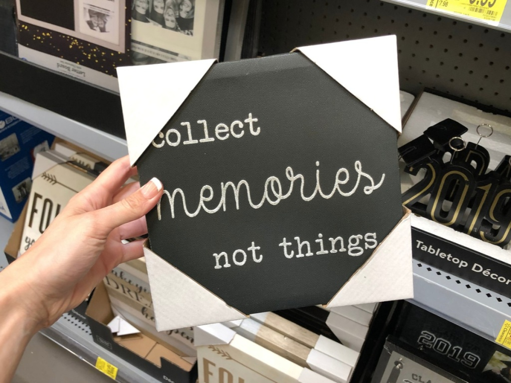 Collect Memories Sign