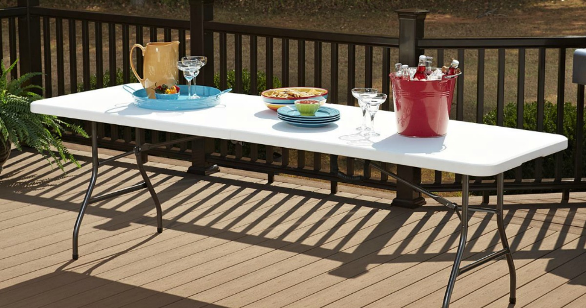 Cosco 8 Foot Folding Table Only 65 Shipped Regularly