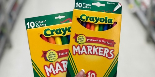 Office Depot Back to School Deals ($1 Crayola Markers, 25¢ Notebooks & More)