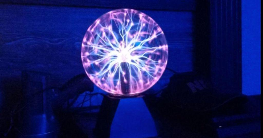 "Creative Motion 7"" Plasma Ball on in dark room"