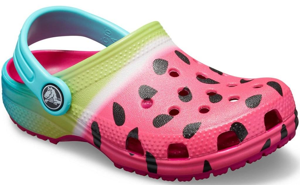 Watermelon Kids Croc