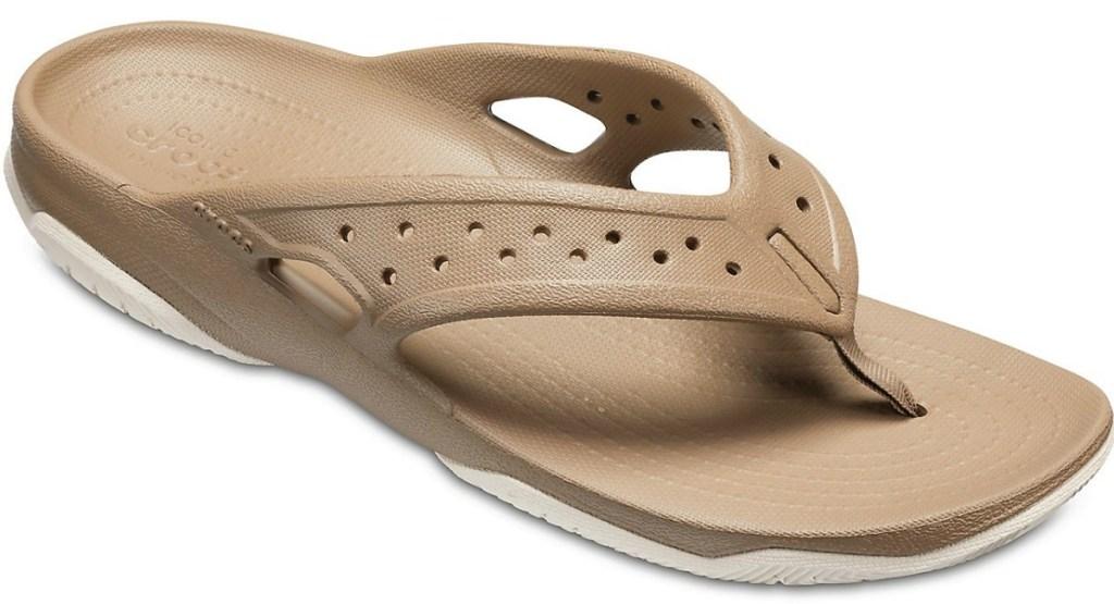 Khaki Men's Croc sandal