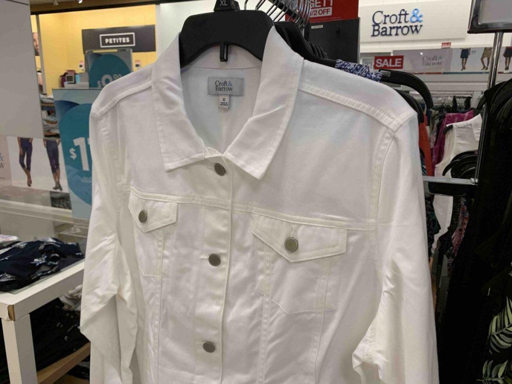 croft and barrow denim jacket