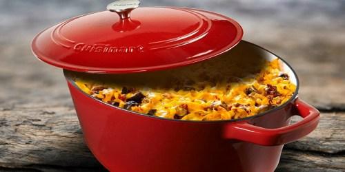 Cuisinart 7-Quart Cast Iron Casserole Dish Only $69.99 Shipped on Amazon (Regularly $130)