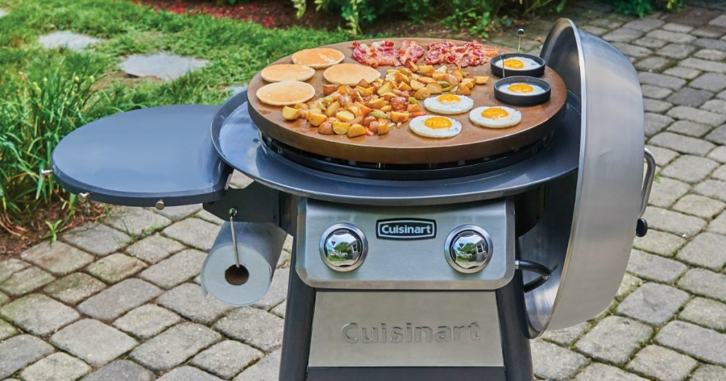 Cuisinart Griddle on outdoor stoned area