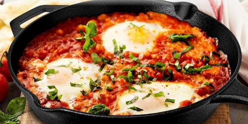 Amazon: Cast-Iron Skillet w/ Lid & Handle Cover Only $31.99 Shipped (Regularly $50) + More