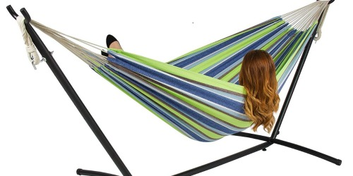 Double Hammock w/ Steel Stand & Carrying Case Just $50 Shipped