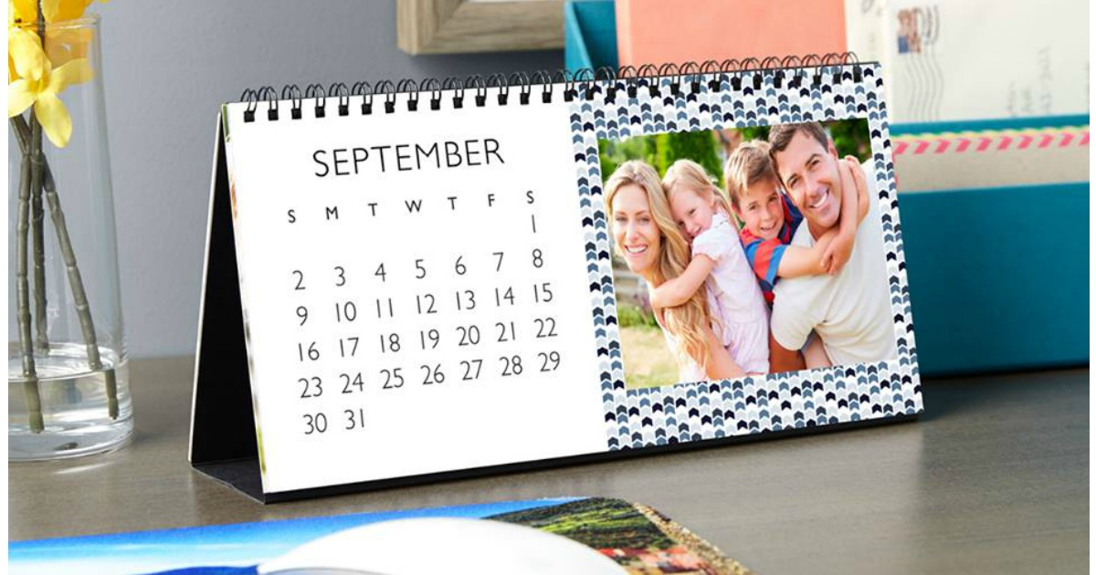 walgreens desk calendar with personalized photo