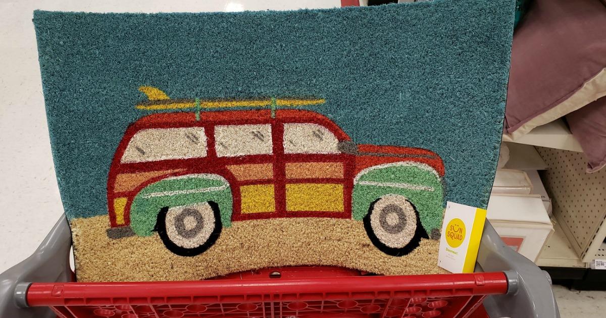 summer doormat at Target