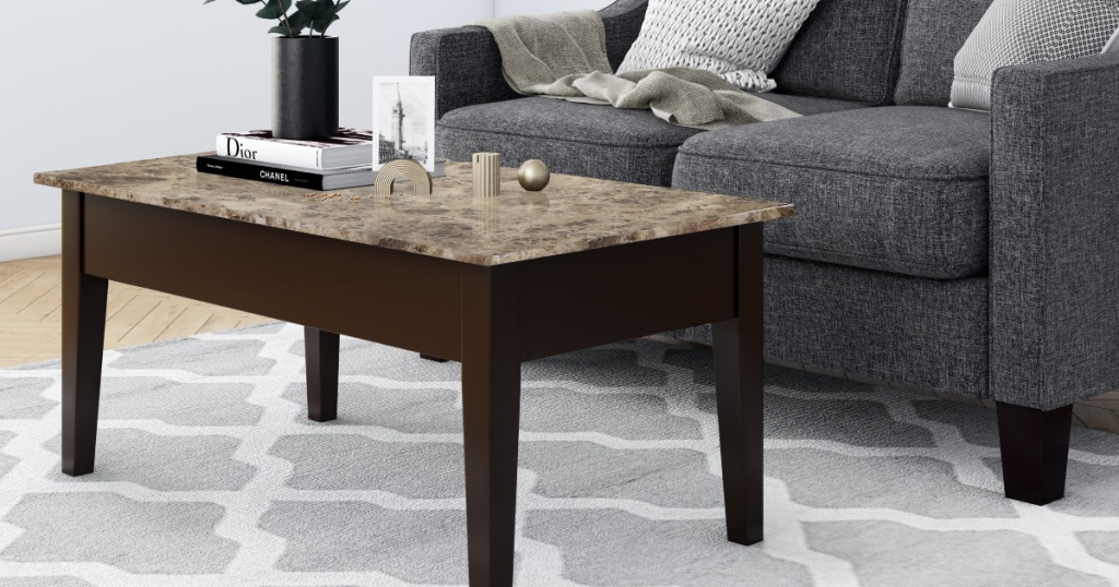 Dorel Living Faux Marble Lift Top Coffee Table