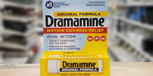 Dramamine Motion Sickness Relief Only $1.79 at Target (Regularly $4)