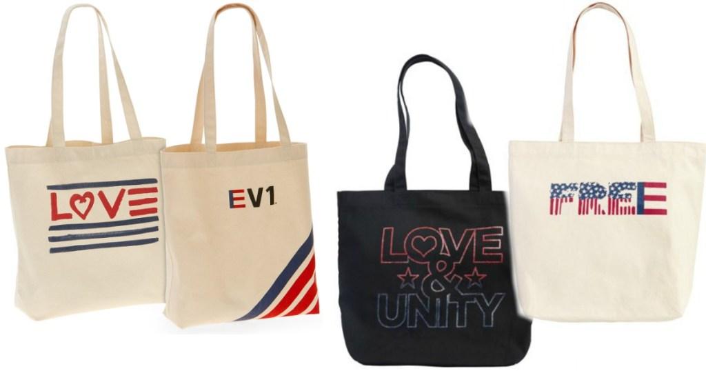 EV1 from Ellen DeGeneres Striped & Love Flag Market Tote Bundle