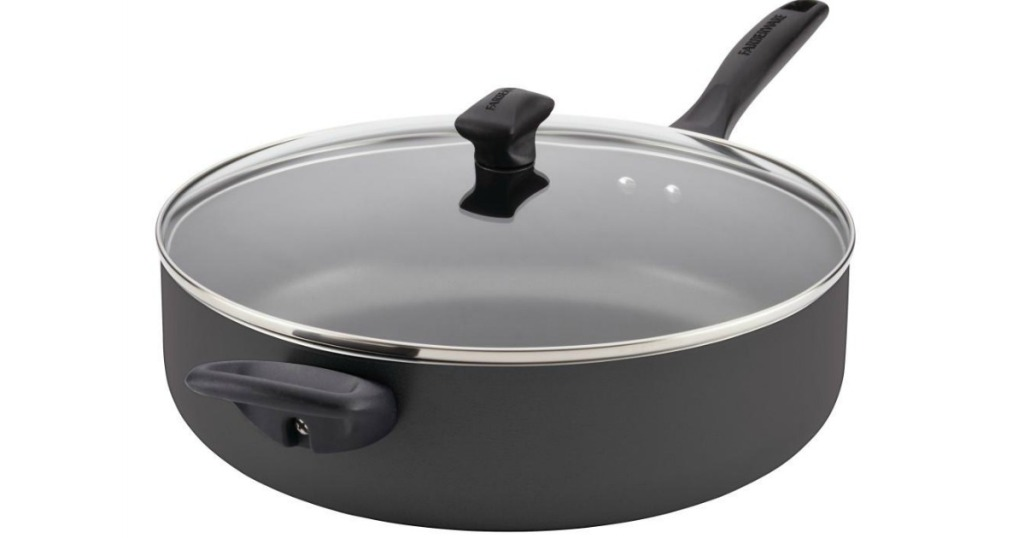 Farberware Black Jumbo Pan with handle and lid