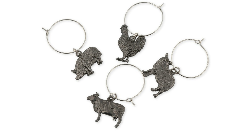 thirstystone farm animal wine charms