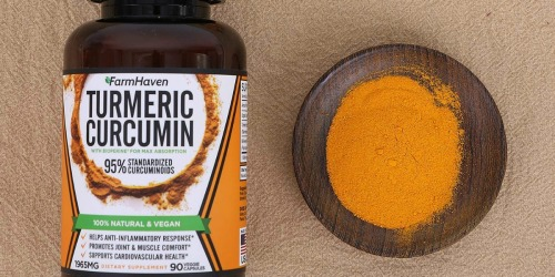 Amazon: FarmHaven Turmeric Curcumin 90-Count Capsules Only $10.69 Shipped