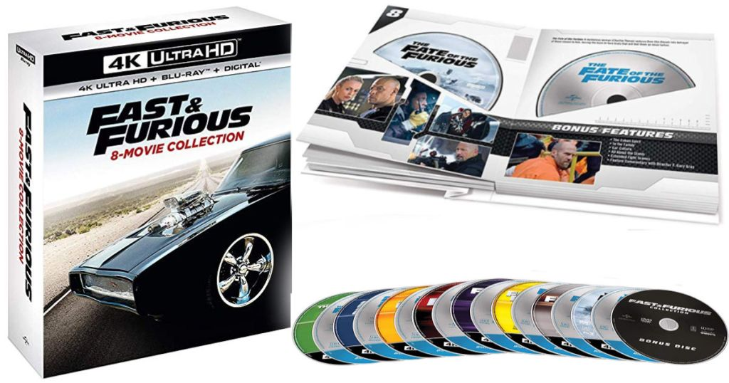 Fast & Furious 8-Movie Collection with cover and all 8 dvds
