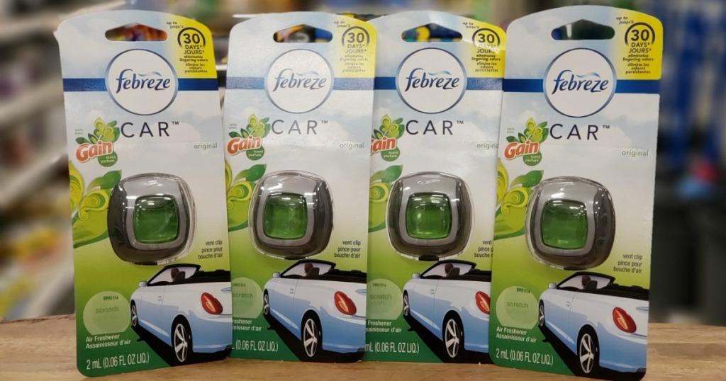 four febreze air freshener car clip packages