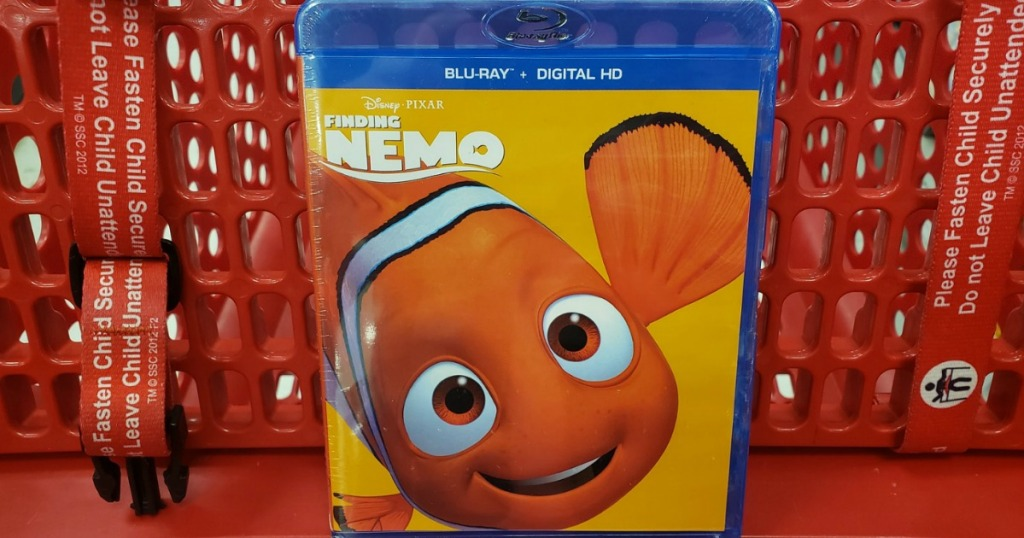 Disney Finding Nemo Blu-Ray in cart at Target