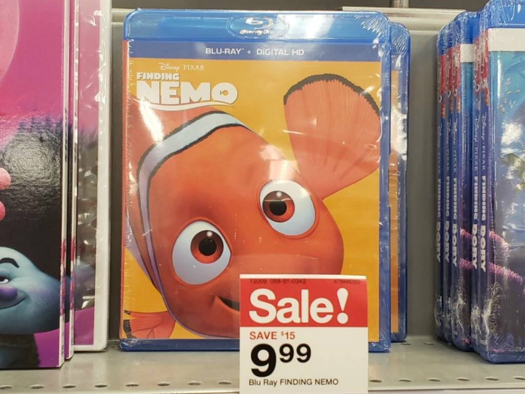 Disney Finding Nemo Blu-Ray in Case at Store